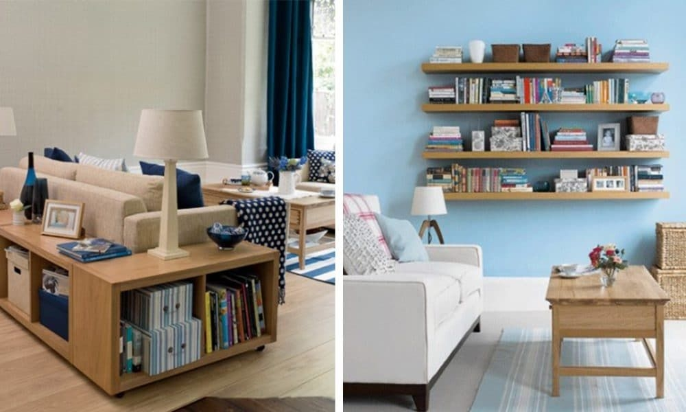 15 Living Room Storage Ideas To Minimize Clutter  Top House Designs