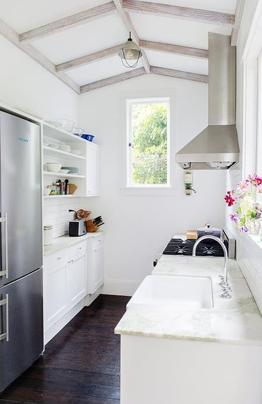 20 Stunning Examples That Show How To Make A Galley Kitchen Work  Small Galley Kitchens Galley