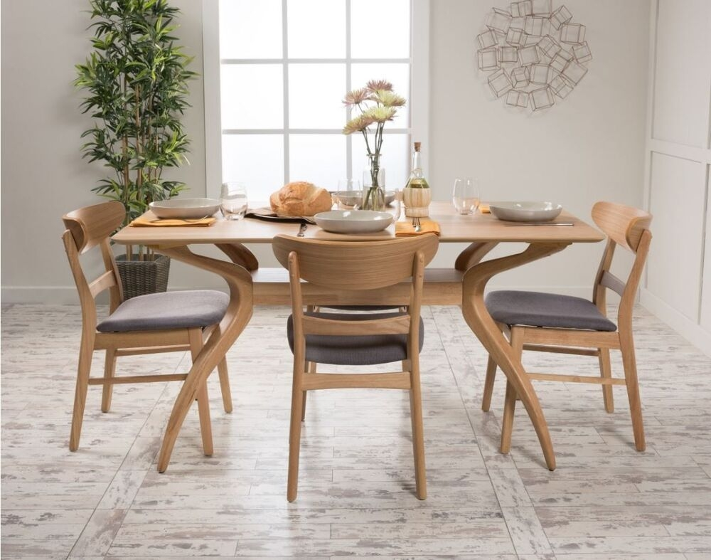 5 Piece Dining Set Wood Table 4 Chair Kitchen Mid Century Modern Retro Furniture  Ebay