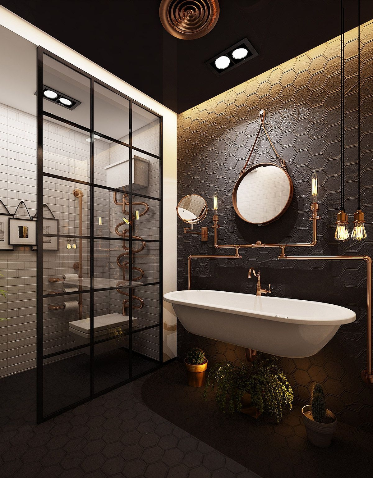 51 Industrial Style Bathrooms Plus Ideas  Accessories You Can Copy From Them  Industrial