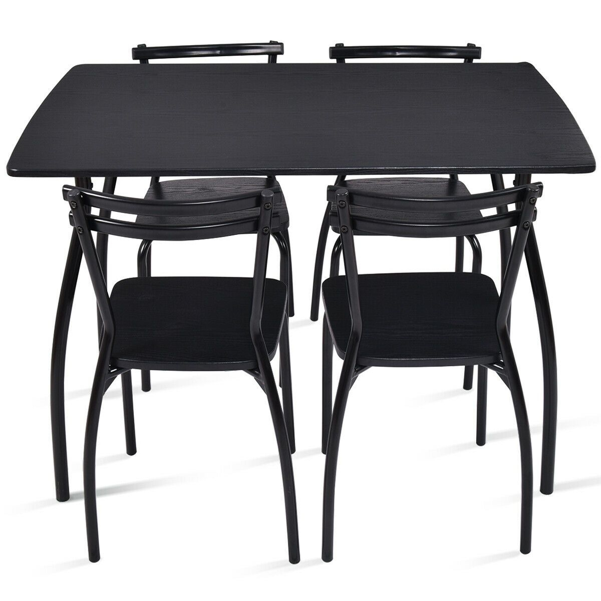5Pcs Dining Set Table  4 Chairs Home Kitchen Room Breakfast Furniture  Walmart Canada