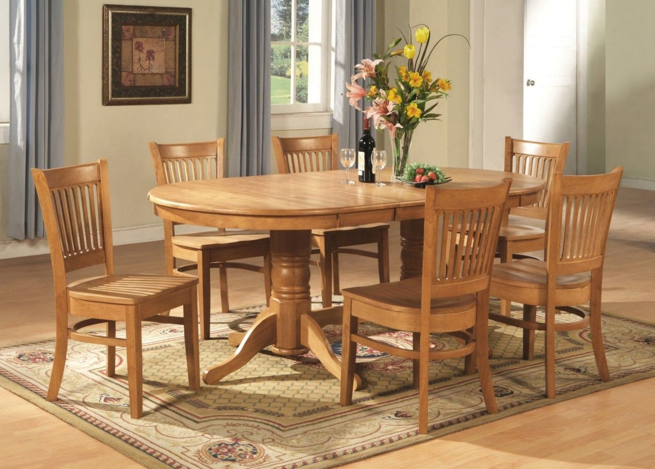 9Pc Vancouver Oval Dinette Kitchen Dining Room Set Table With 8 Chairs In Oak  Ebay