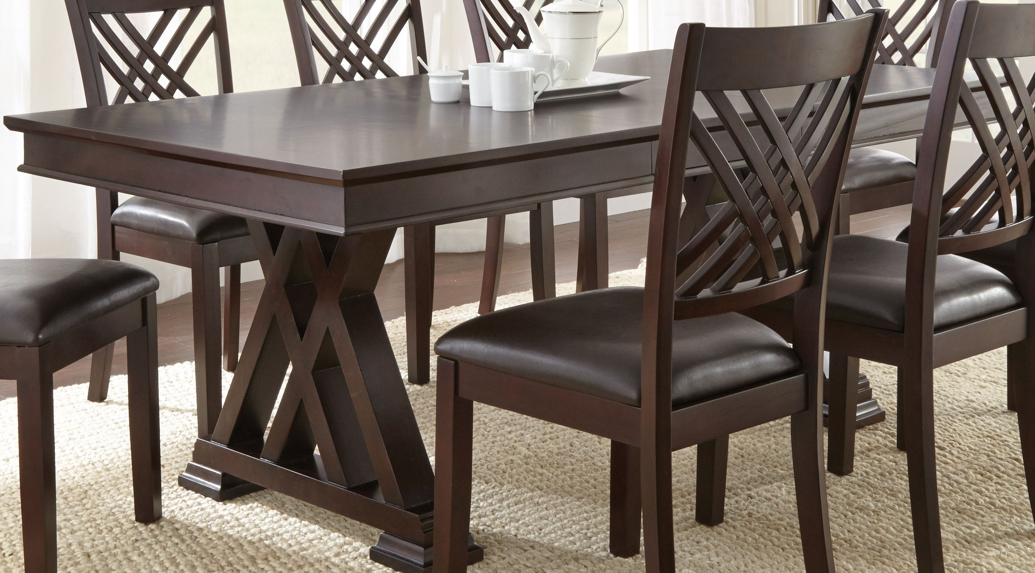 Adrian Extendable Rectangular Dining Table From Steve Silver Ad600Bad600T  Coleman Furniture