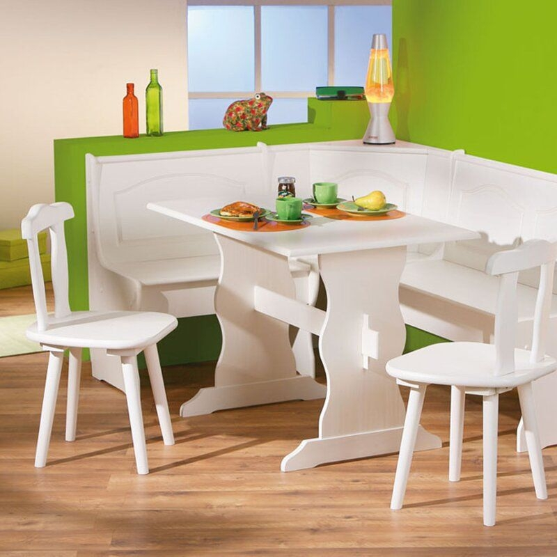 Alpenhome Wamsutter Corner Dining Set With 2 Chairs And Storage Bench  Reviews  Wayfaircouk