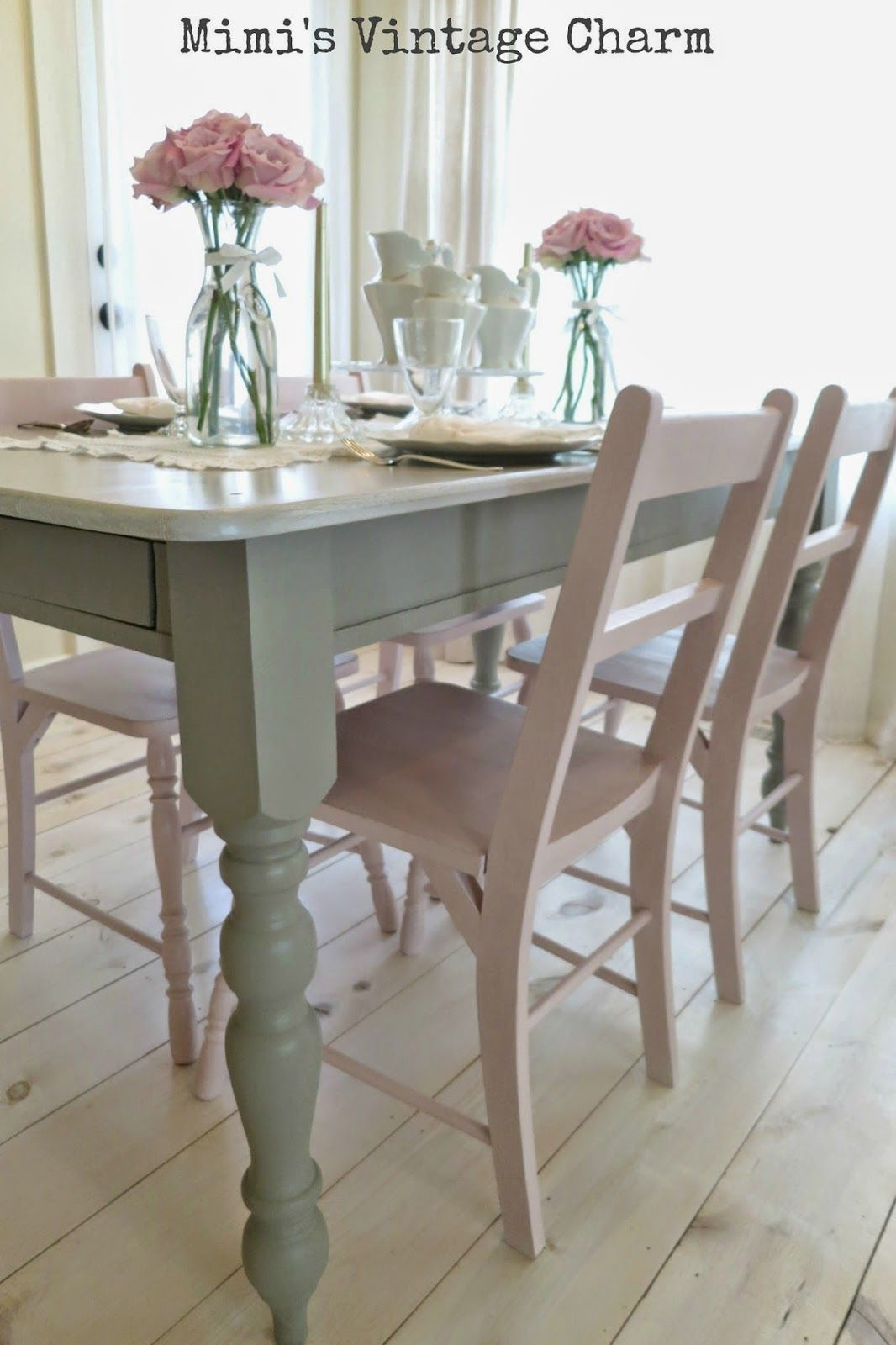 Antoinette Dining Room Chairs  Vintage Dining Room Painted Kitchen Tables Kitchen Table Makeover