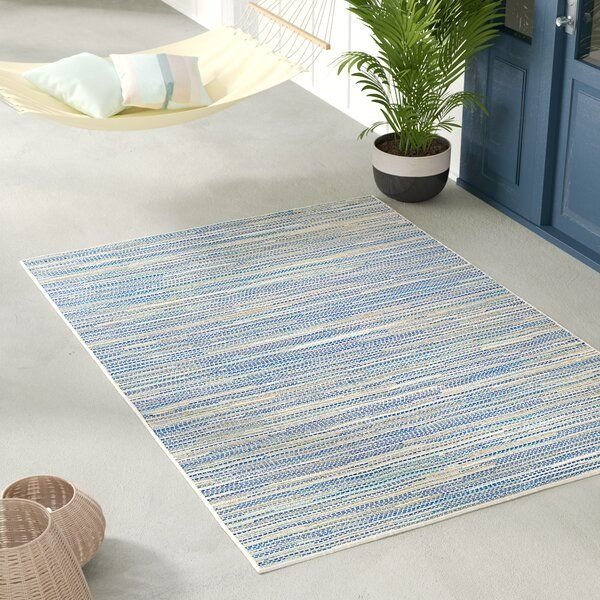 Beachcrest Home Jasmine Estates Sandturquoise Indooroutdoor Area Rug  Reviews  Wayfair