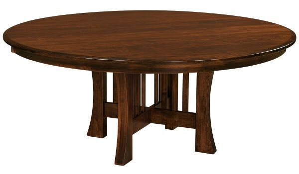 Berkshire Round Wooden Dining Table  Countryside Amish Furniture