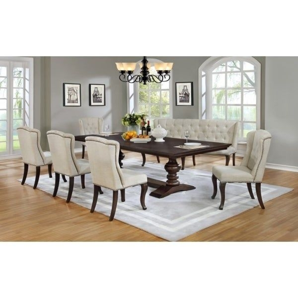Best Quality Furniture Cappuccino Dining Set  Free Shipping Today  Overstock  24141406