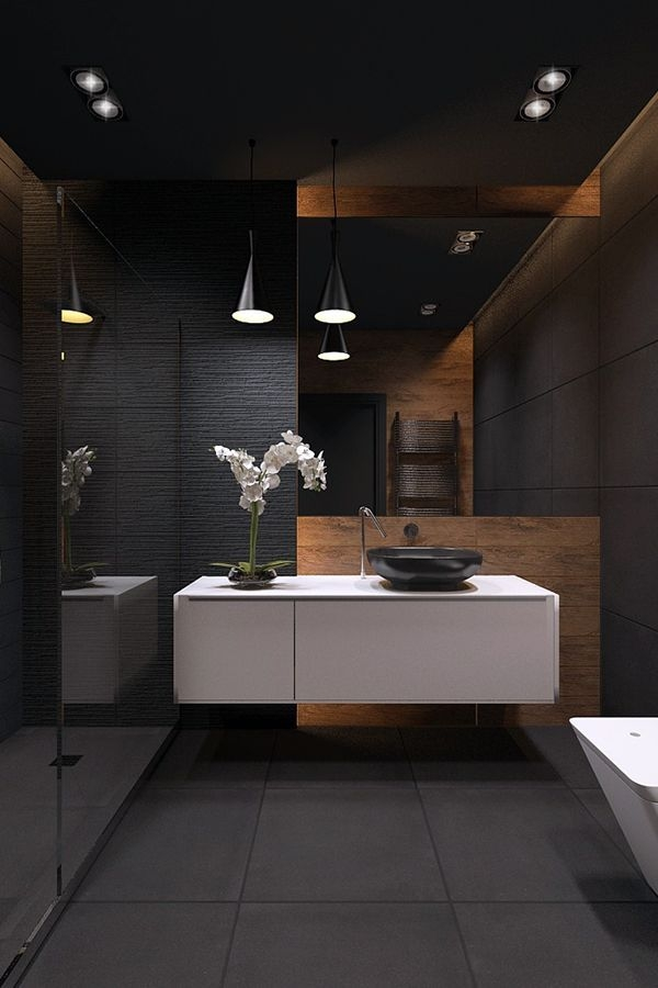 Blackstyle In 2019  Contemporary Bathroom Designs Dark Bathrooms Modern Contemporary Bathrooms