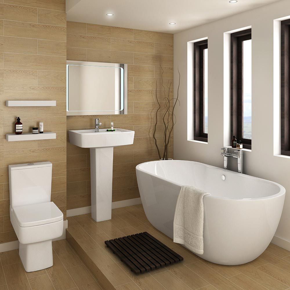 Bliss Modern Double Ended Curved Freestanding Bath Suite At Victorian Plumbing Uk