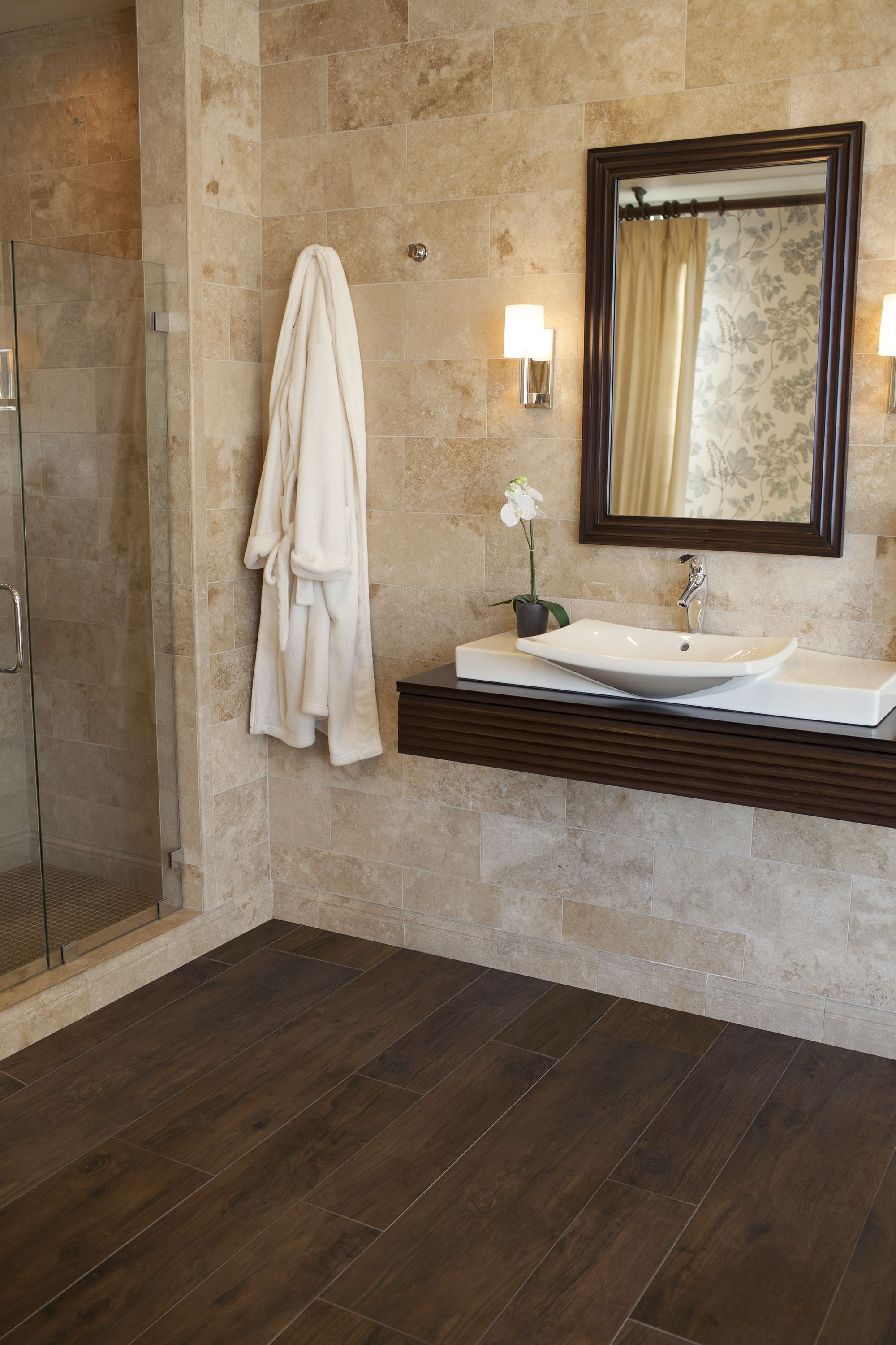 Casetta Walnut Wood Tile Tile Thetileshop Woodtile  Wood Tile Bathroom Wood Floor Bathroom