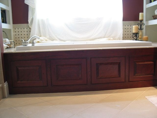 Cherry Jacuzzi Panels  Traditional  Bathroom  Boston Taylor Made Cabinets Leominster Ma