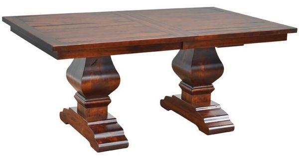 Chestnut Street Double Pedestal Table  Countryside Amish Furniture
