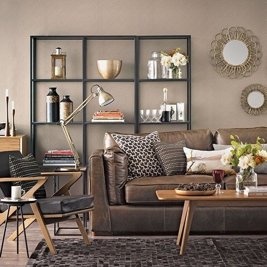 Chocolate Brown Living Room  Living Room Decorating  Housetohomecouk