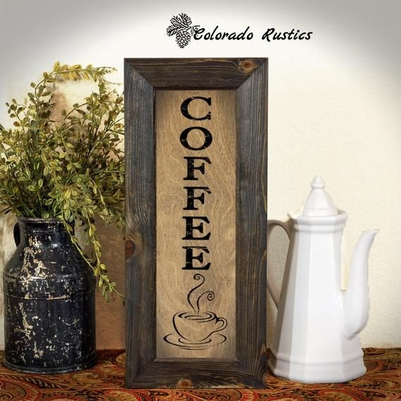 Coffee Sign Rustic Kitchen Sign Kitchen Wall Decor Coffee