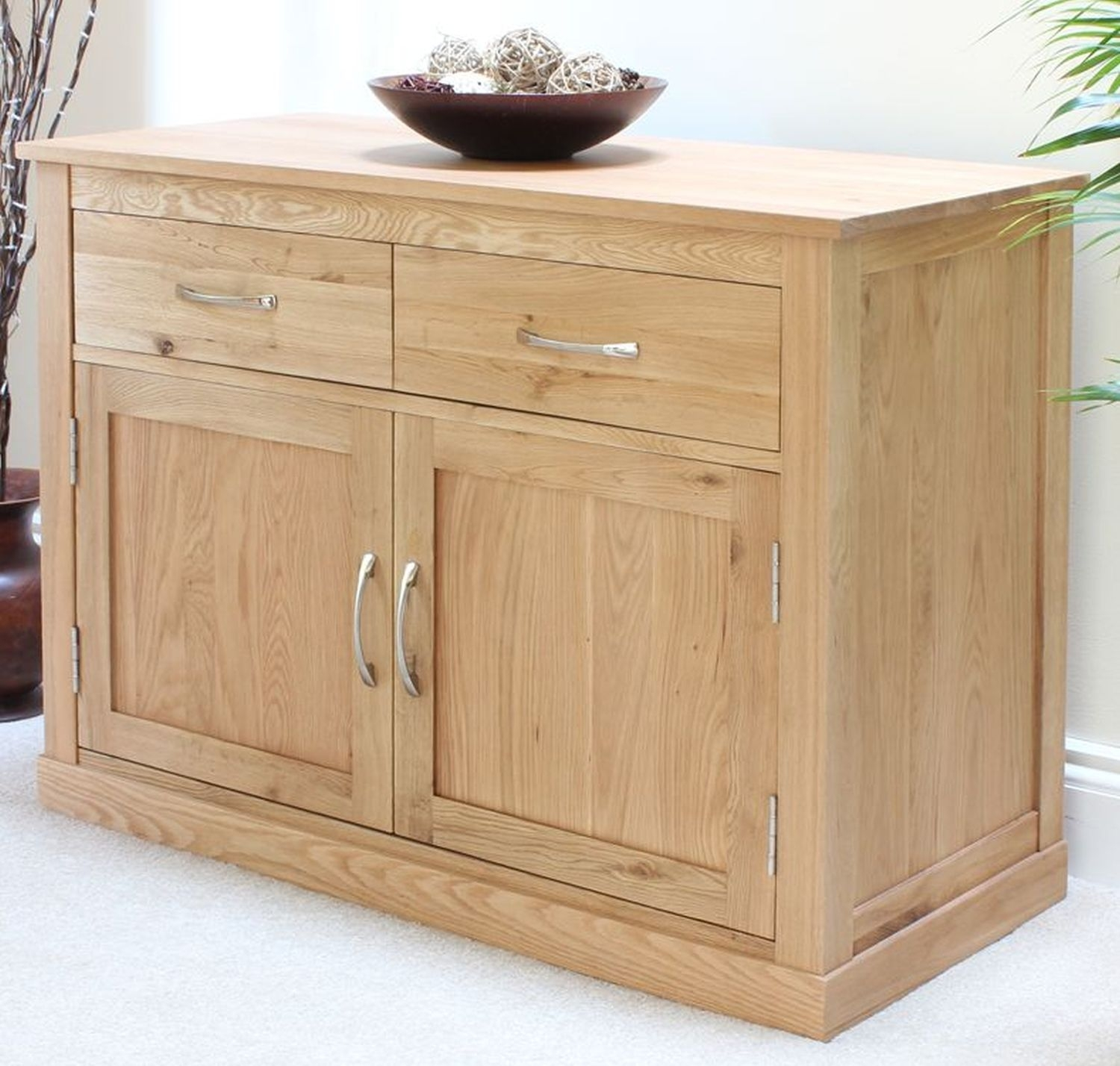 Conran Solid Oak Furniture Sideboard Small Living Dining Room Storage Cabinet  Ebay