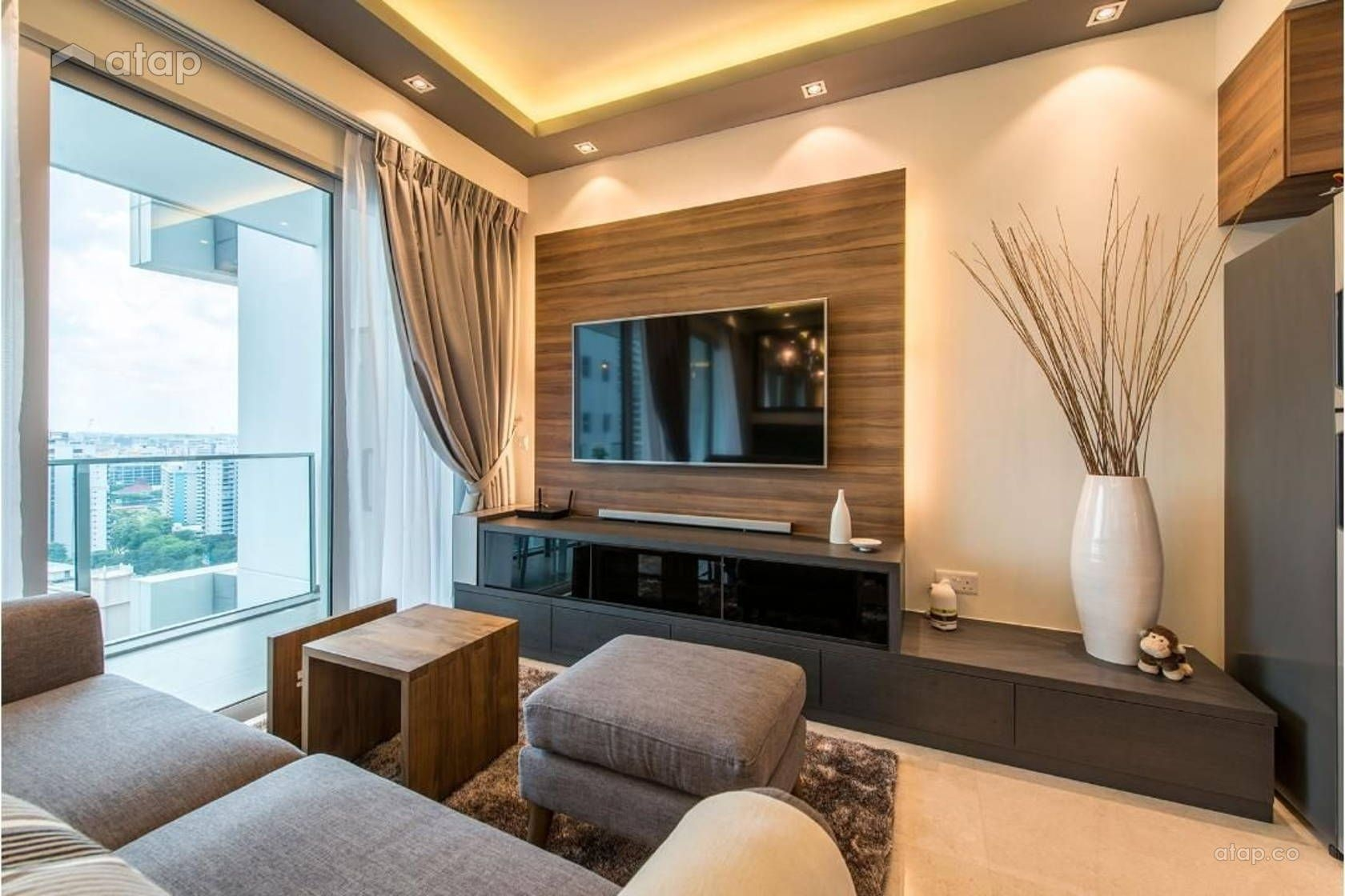 Contemporary Modern Living Room Condominium Design Ideas  Photos Malaysia  Atapco