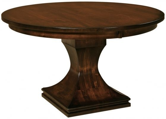 Corleone Modern Round Pedestal Table  Countryside Amish Furniture