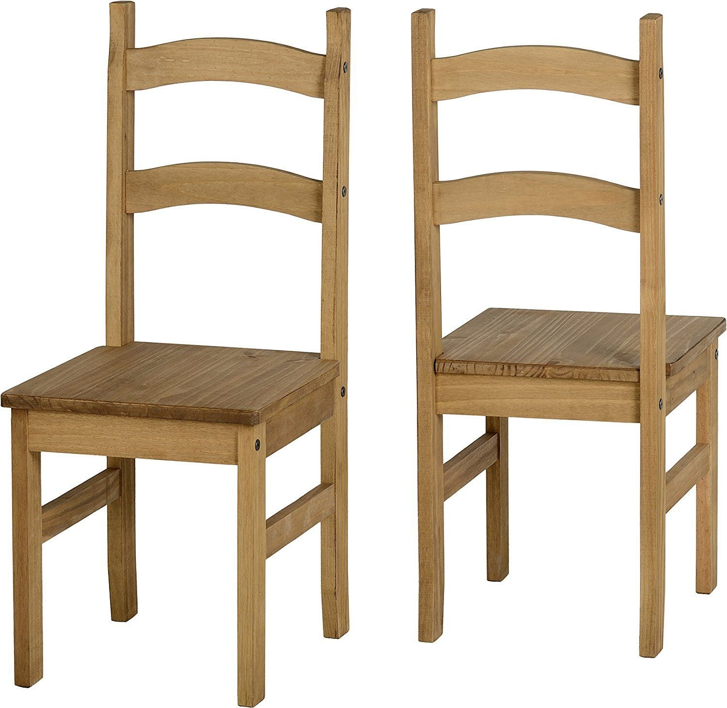 Corona 4 Dining Chairs In Distressed Waxed Pine Amazoncouk Kitchen  Home  Dining Chairs