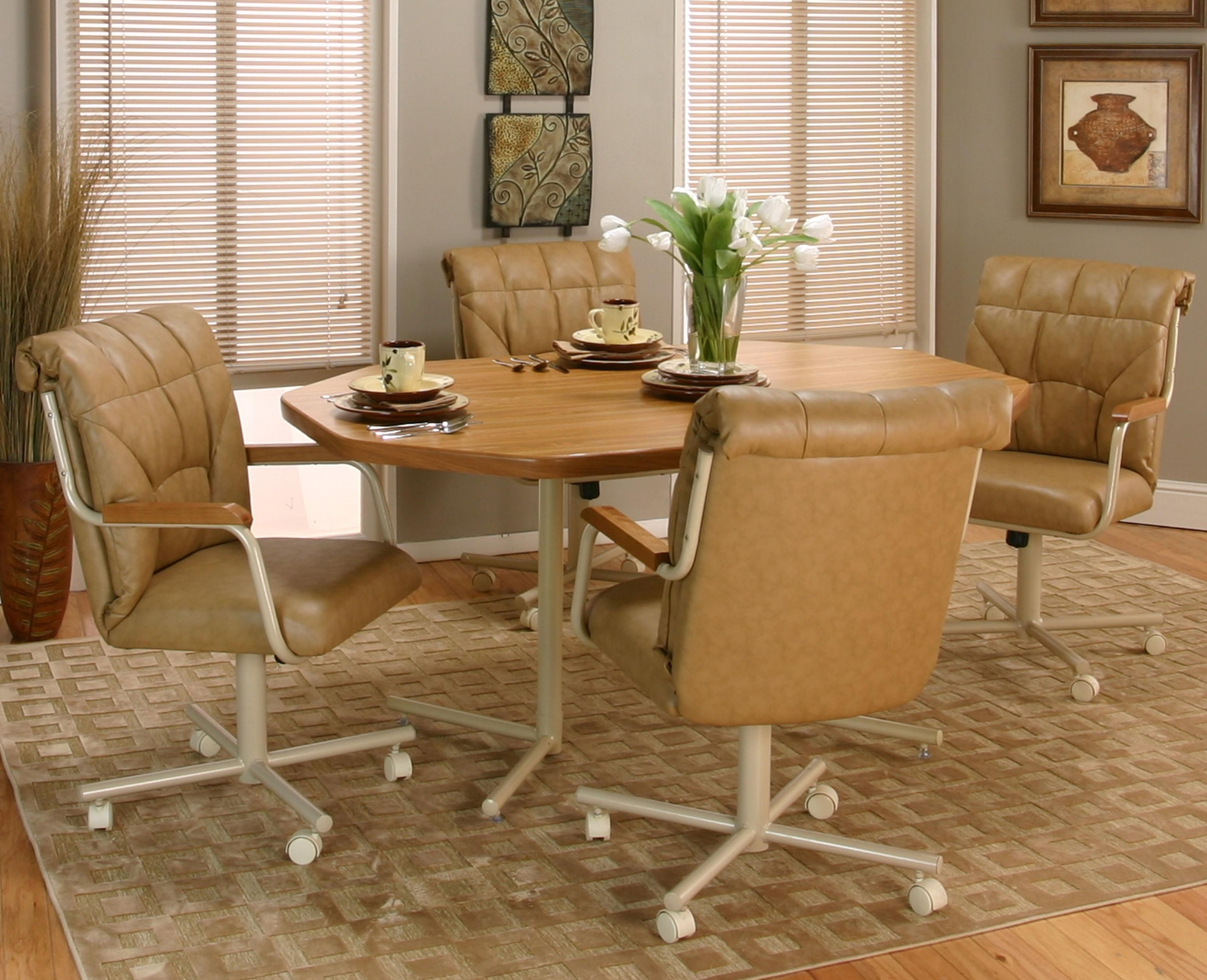 Cramco Inc Cramco Motion  Marlin Tiltswivel Dining Chair With Casters  Value City Furniture