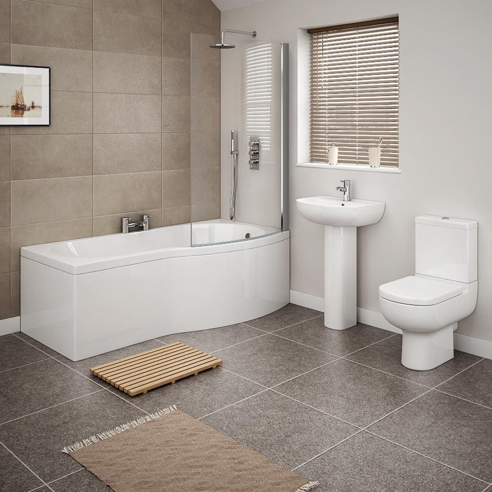 Cruze Modern Shower Bath Suite  Now Online At Victorian Plumbing