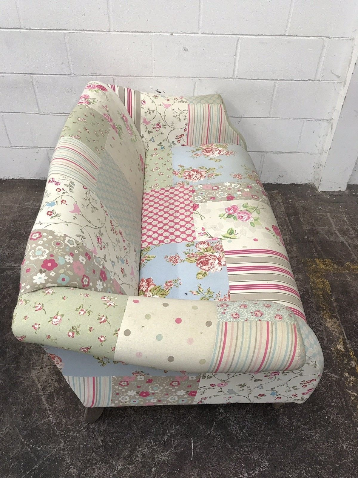 Dfs Doll Sofa Pastel Patch Work Sofa 2 Seater  Aherns Furniture