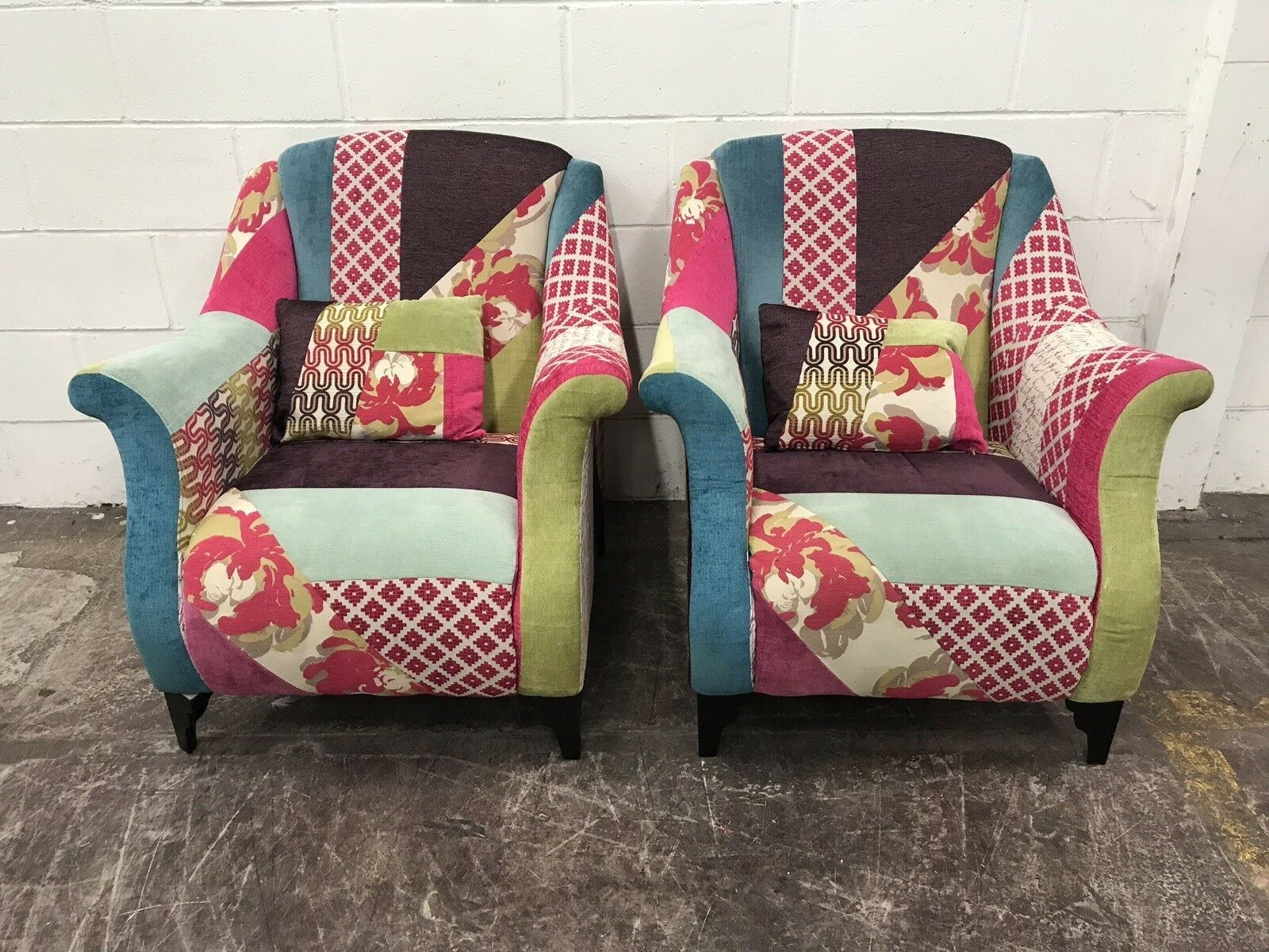 Dfs Shout Patchwork Suite Sofa And 2X Armchairs  Aherns Furniture