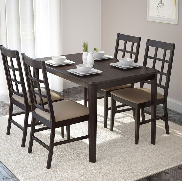 Dining Table And Chairs Kitchen Furniture Dining Room Set Wood Modern Breakfast Corliving