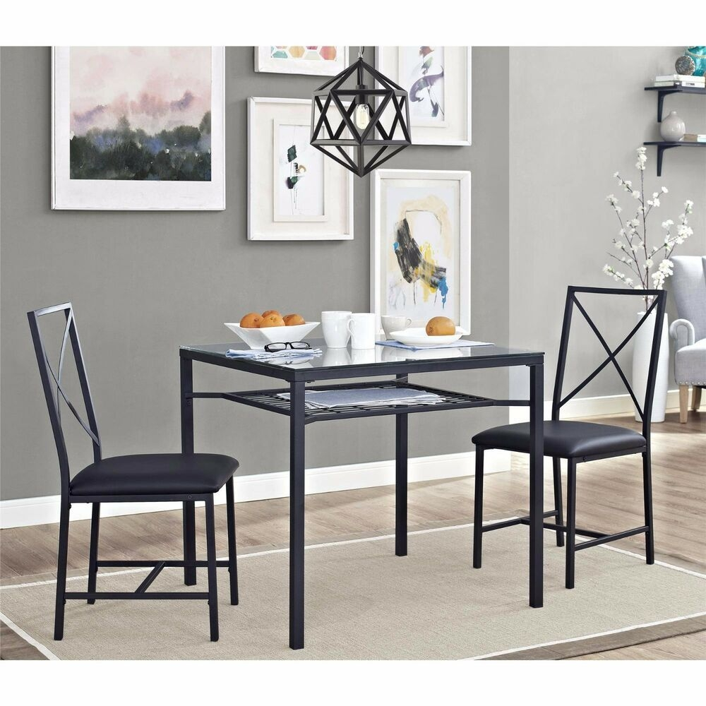 Dining Table Set For 2 Chairs 3 Piece Kitchen Room Furniture Dinette And New  Ebay