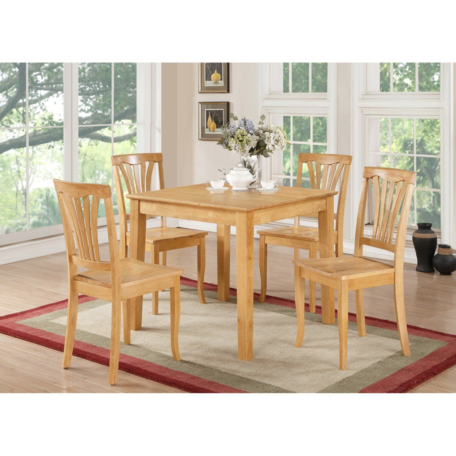 East West Furniture 5 Piece Lath Back Breakfast Nook Dining Table Set  Walmart