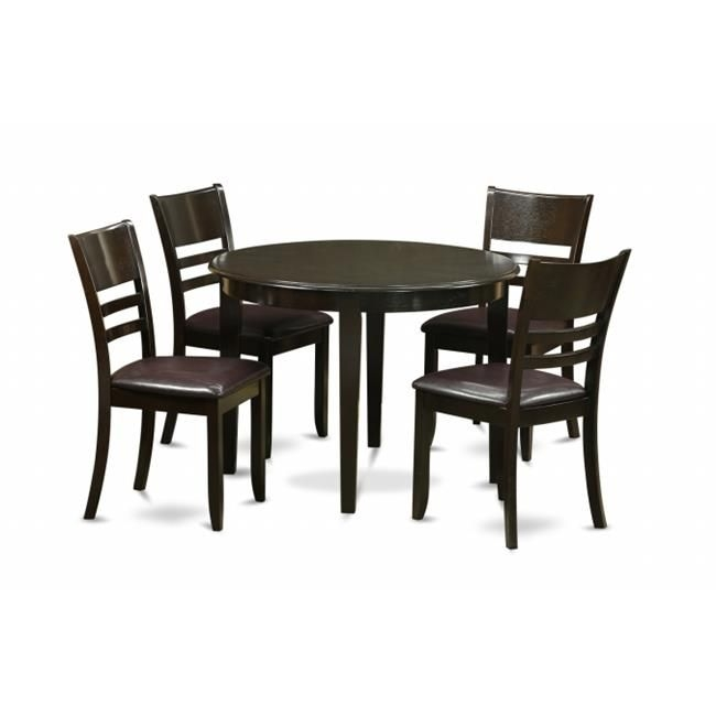 East West Furniture Boly5Caplc 5 Piece Small Kitchen Table Setkitchen Dining Nook And 4