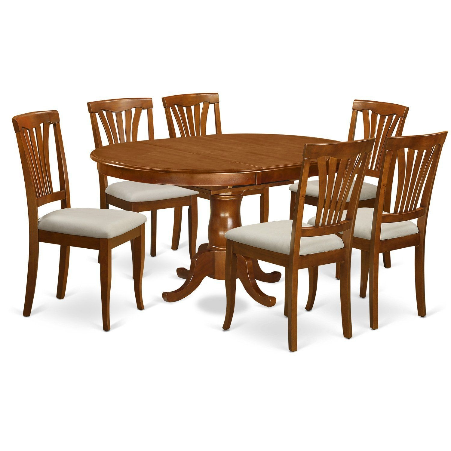 East West Furniture Poav7Sbrc 7 Piece Kitchen Dinette Table And 6 Chairs  Details Can Be