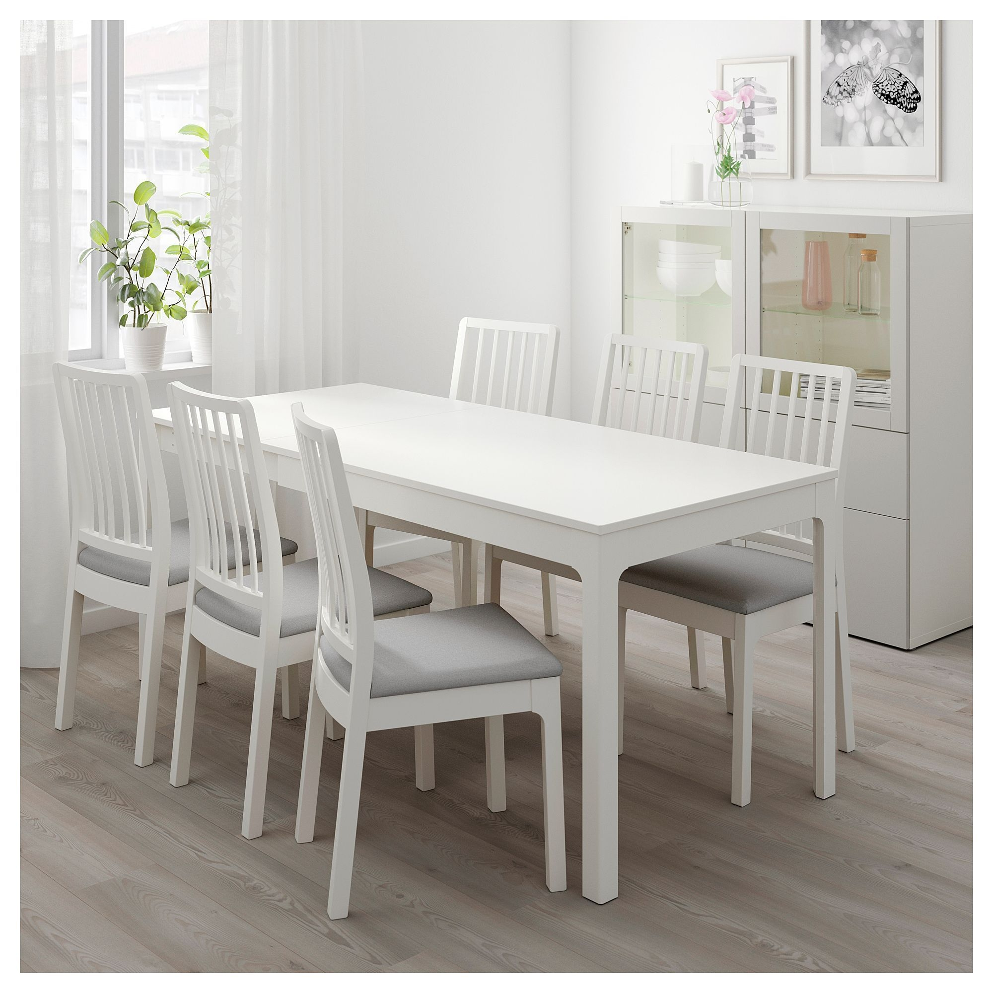 "Ekedalen  Ekedalen Table And 4 Chairs  White Orrsta Light Gray 47 1470 78 "" 120180 Cm"