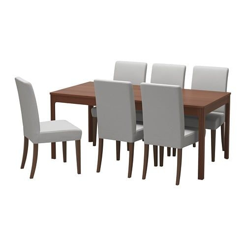 Ekedalen  Henriksdal Table And 6 Chairs  Ikea