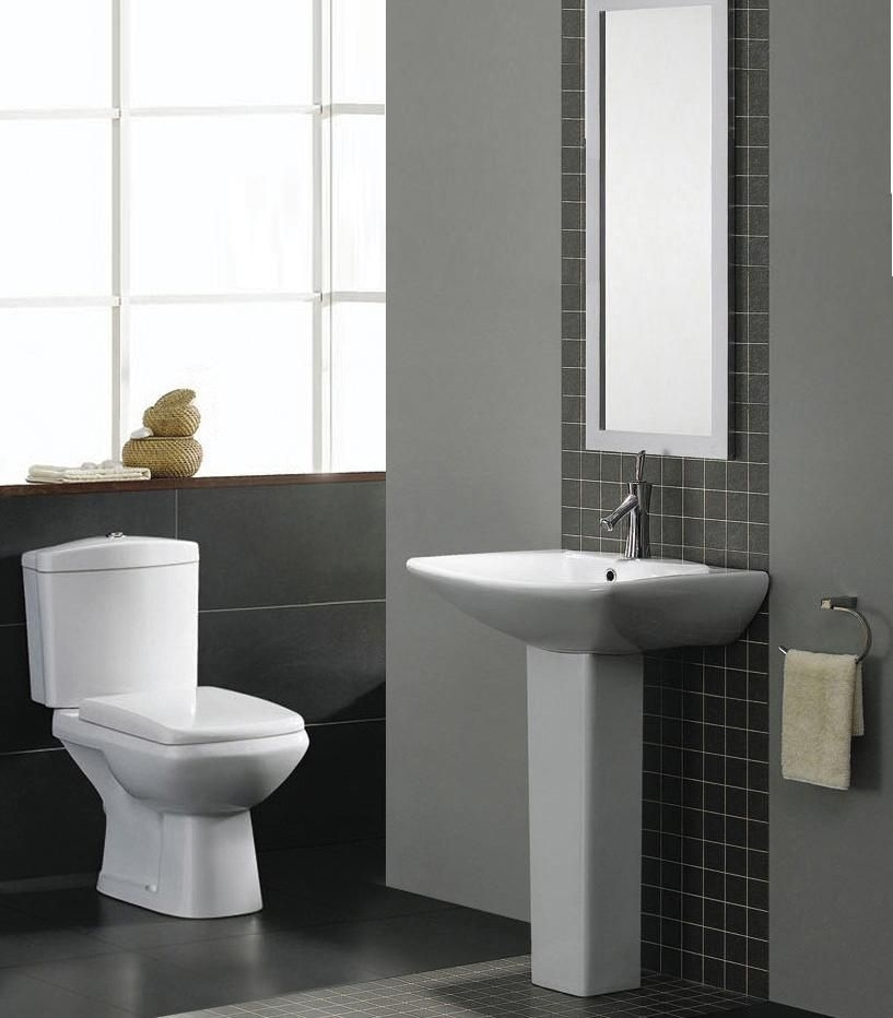 Elizabeth Modern Bathroom Suite White Bath Toilet Sink Basin Pedestal Panel 3 Pc  Ebay