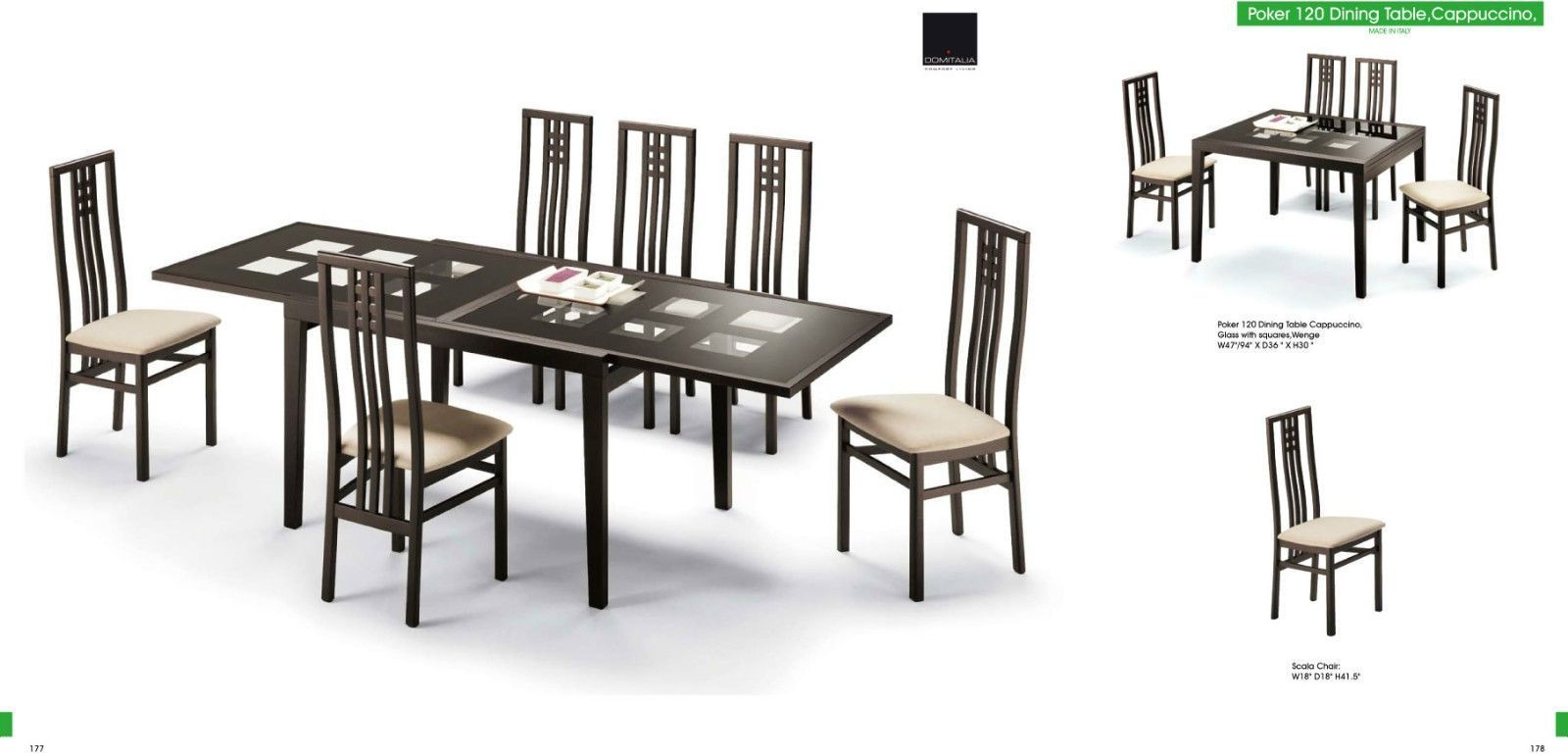Esf Trading Poker Cappuccino Dining Set  Furniture Cheap Dining Room Sets Dining