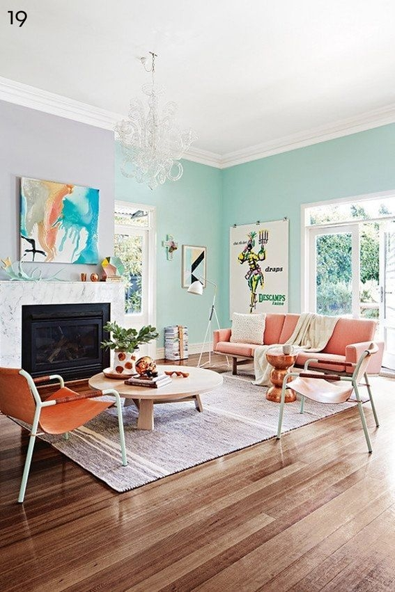 Eye Candy 22 Favorite Pastel Rooms  Pastel Living Room Pastel Room Home Decor