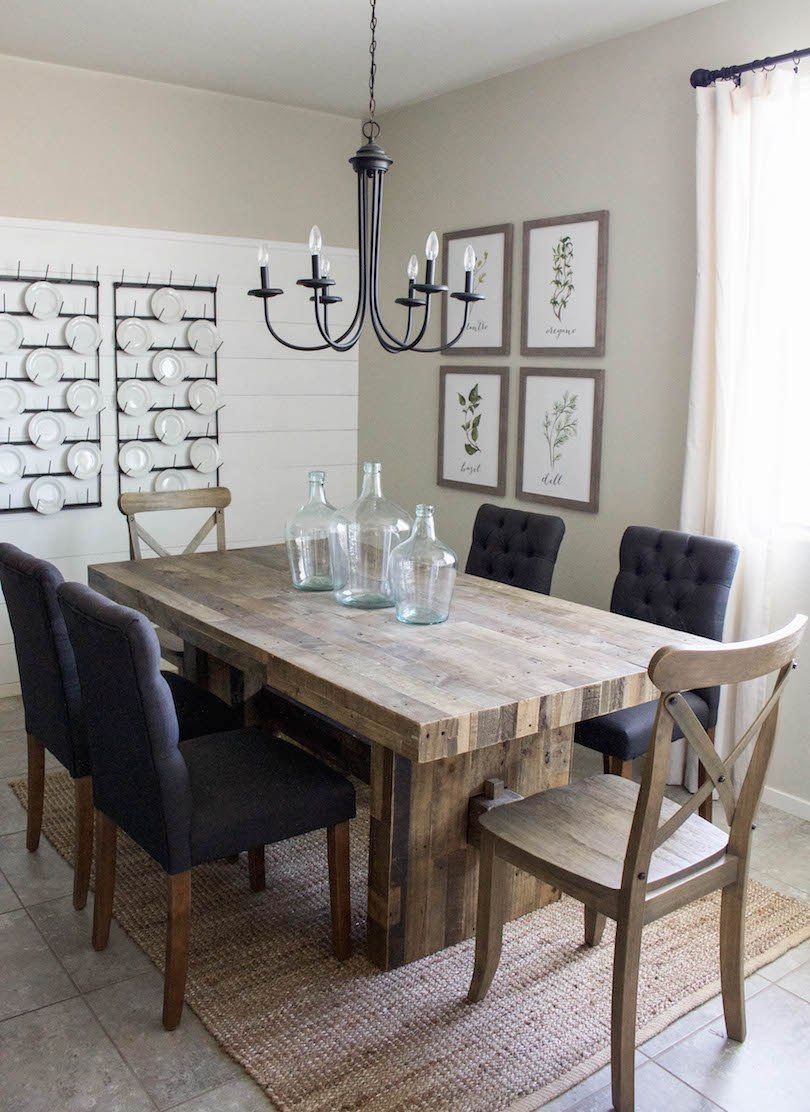 Farmhouse Dining Room Reveal  Modern Farmhouse Dining Room Farmhouse Dining Room Table