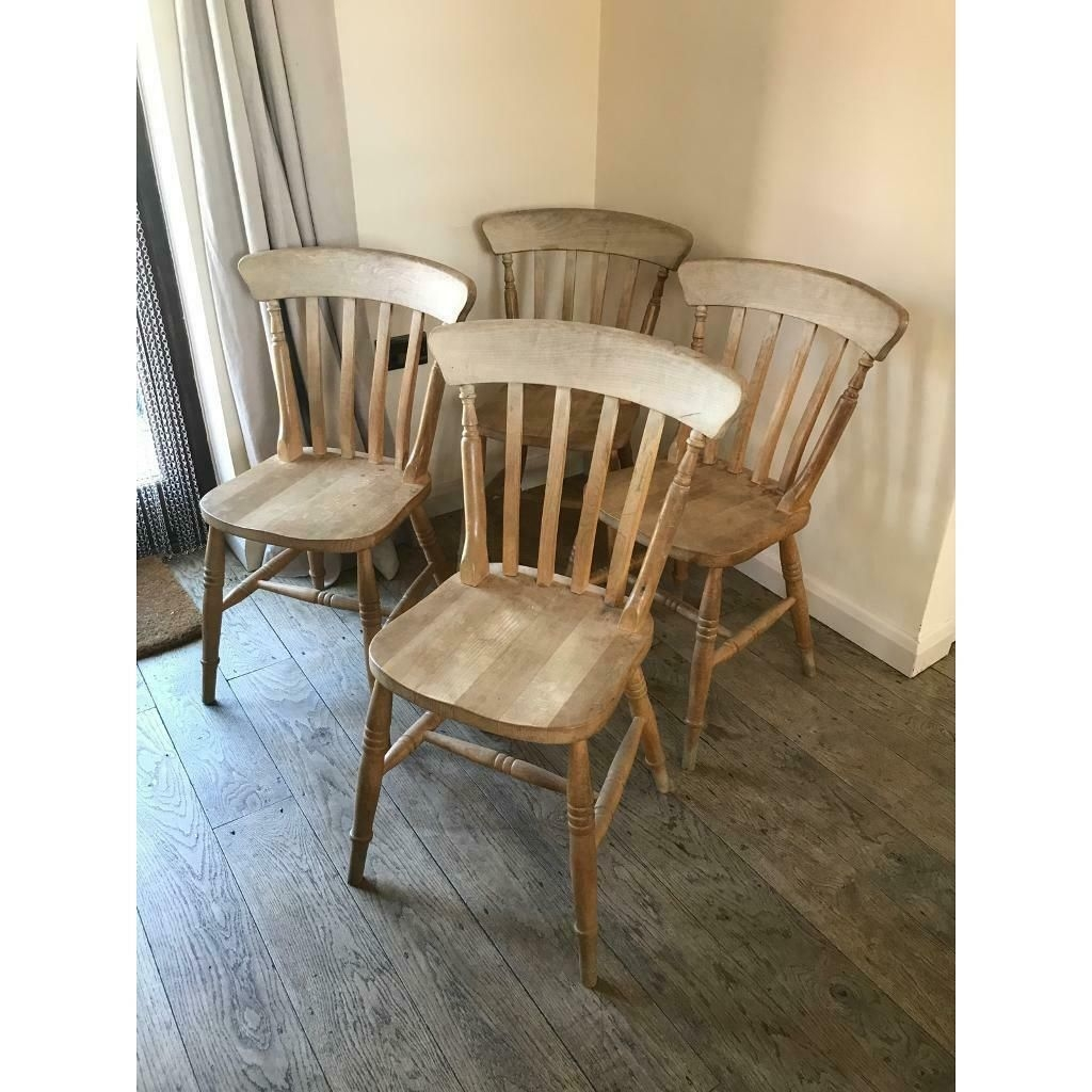 Farmhouse Kitchen Chairs Set Of Four Beech Not Pine  In Eye Suffolk  Gumtree