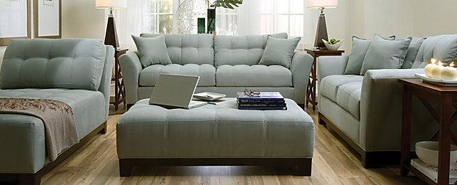Fontana Contemporary Microfiber Living Room Collection  Design Tips  Ideas  Raymour And