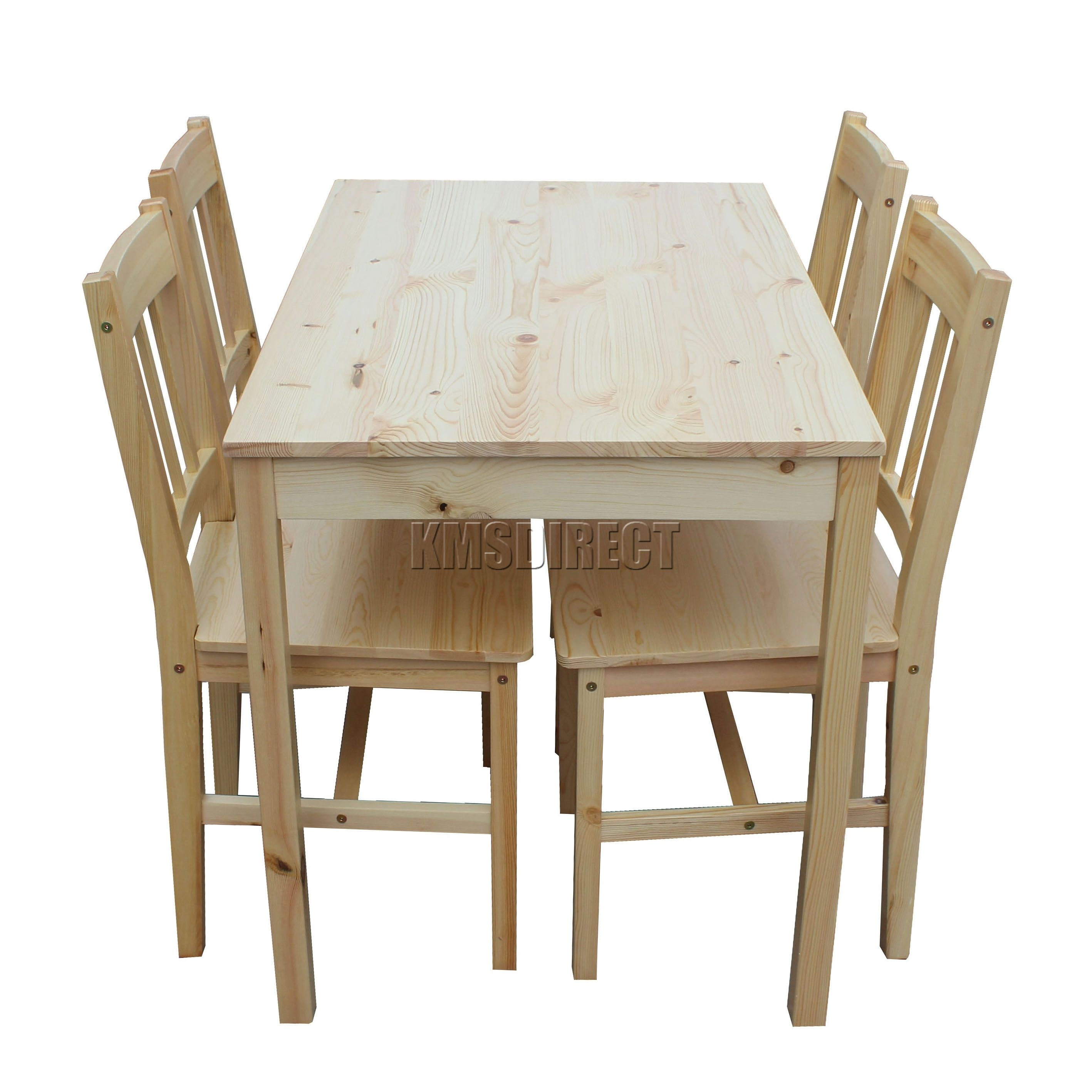 Foxhunter Quality Solid Wooden Dining Table And 4 Chairs Set Kitchen Ds02 Pine  Ebay