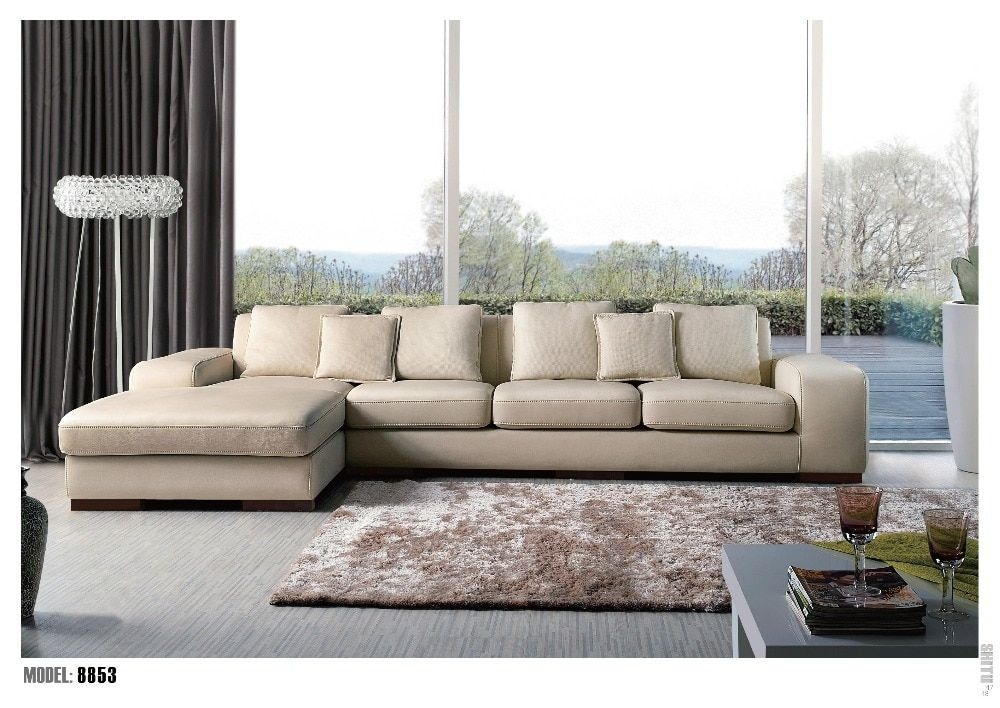 Hot Sale Modern Big U Shaped Genuine Leather Round Corner Sofa Best Living Room Sofain Living