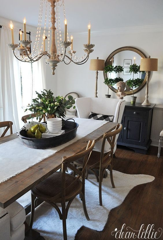 How To Create A Chic Neutral Dining Room Design  Farmhouse Dining Room Table Black White