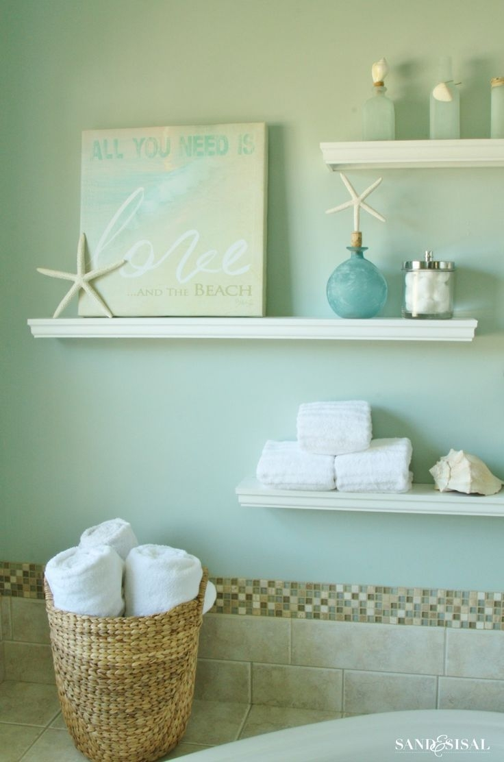 How To Make Floating Display Shelves  Coastal Bathroom Decor Nautical Bathroom Design Ideas