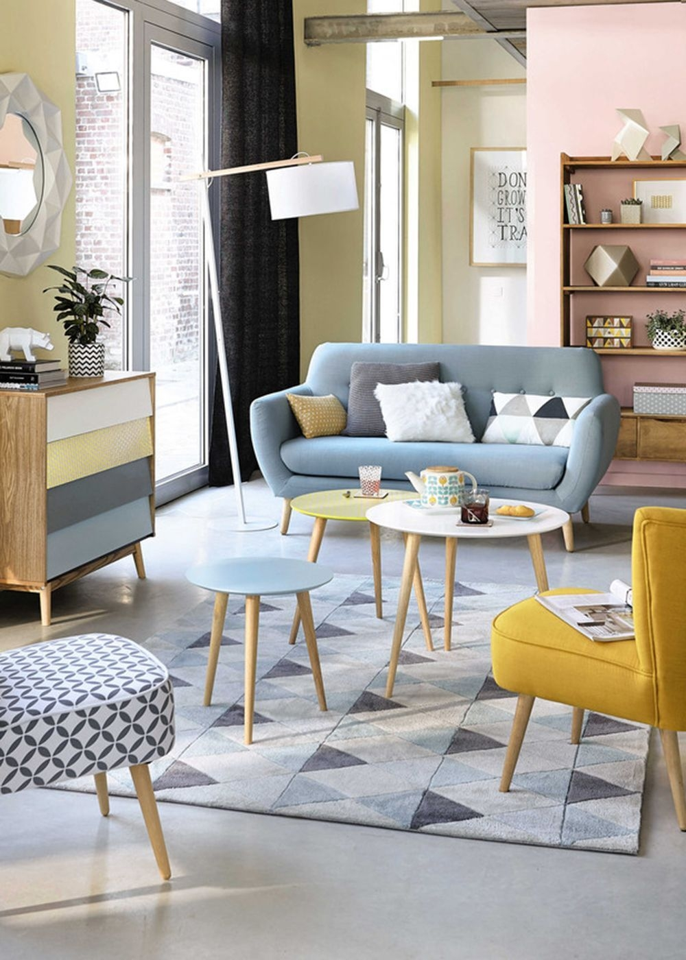 How To Style A Coffee Table In Your Living Room Decor  Pastel Living Room Retro Living Rooms
