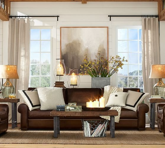 How To Visually Lighten Up Dark Leather Furniture  Brown Couch Living Room Living Room Colors