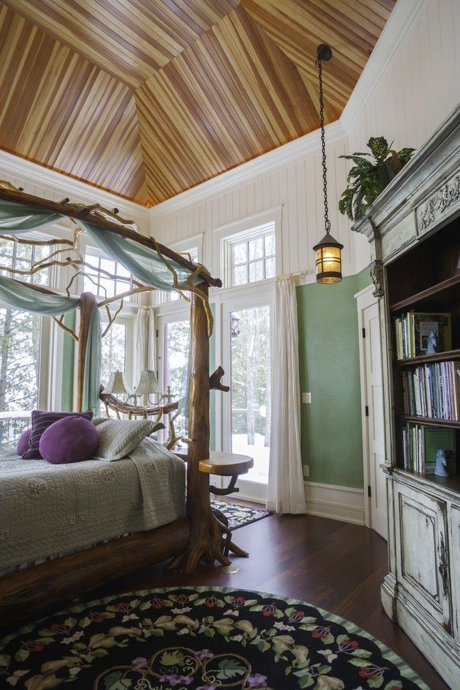 Imaginative Olive Green Bedroom Ideas With Walls Wood Panel Ceiling