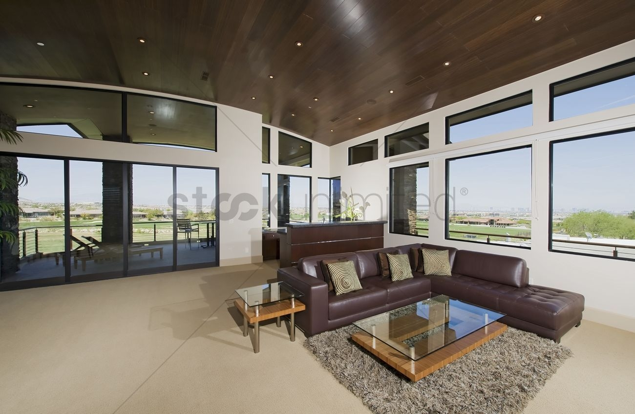 Interior With Furniture And Large Windows With Outside Views Stock Photo  1915584  Stockunlimited