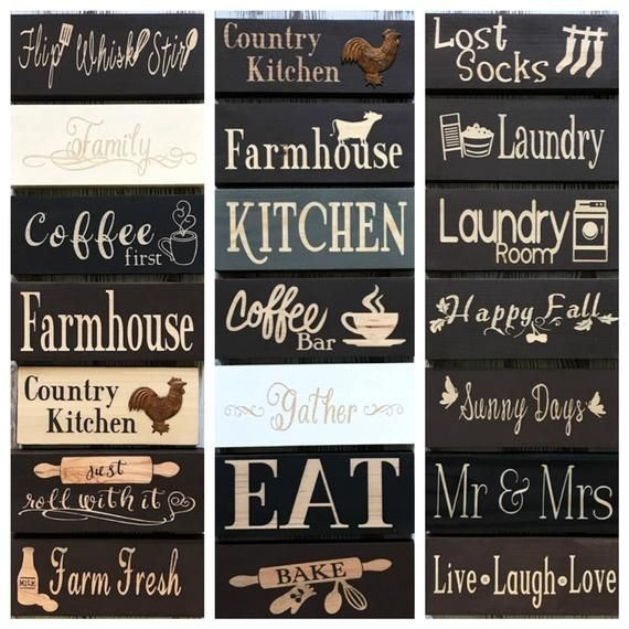Items Similar To Kitchen Decor Kitchen Signs Wood Signs Small Signs Coffee Sign Coffee Bar