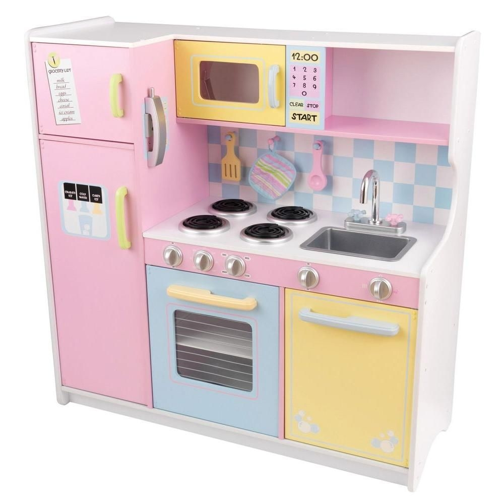 Kidkraft Large Pastel Kitchen Playset53181  The Home Depot